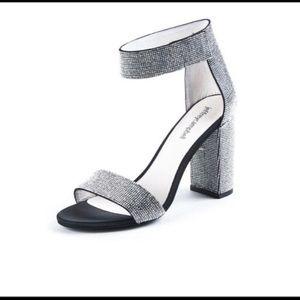 Jeffrey Campbell Lindsay black rhinestone heels